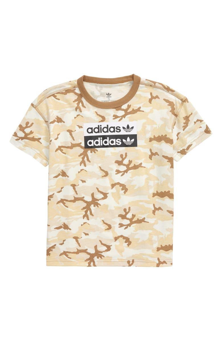 ADIDAS ORIGINALS adidas V-Ocal Graphic T-Shirt, Main, color, MULTICOLOR/ CARDBOARD