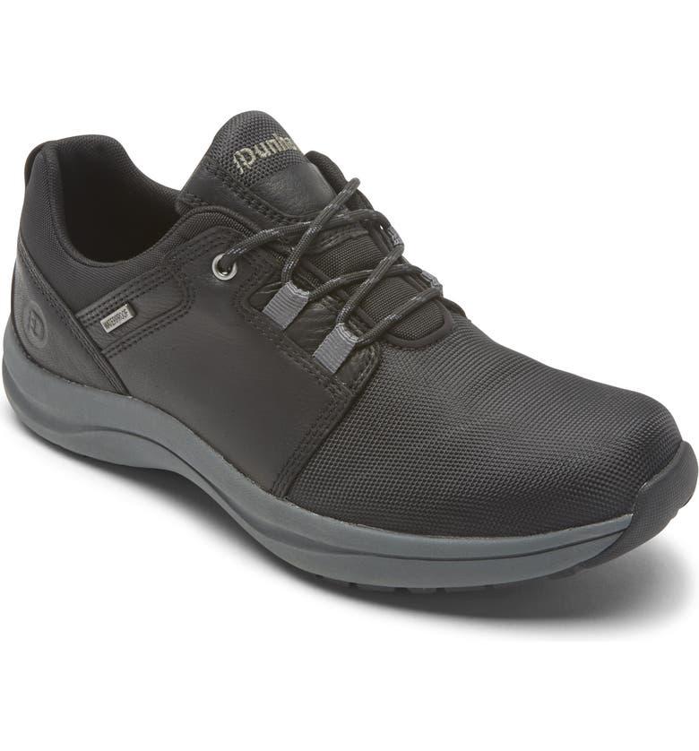 DUNHAM Sutton Waterproof Lace-Up Shoe, Main, color, BLACK/ GREY