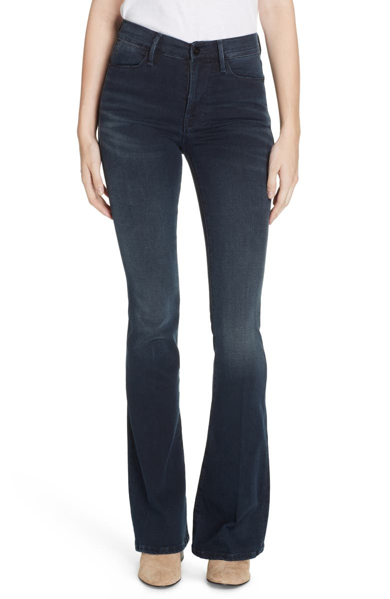 FRAME Le High Flare Jeans, Main, color, 001