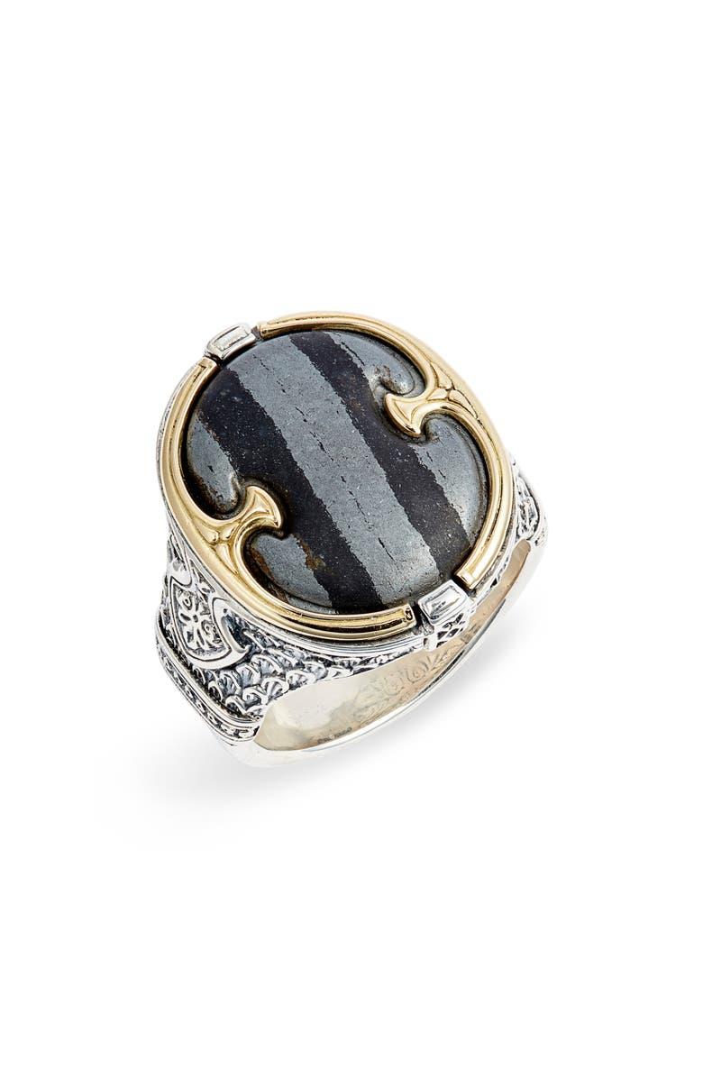 KONSTANTINO Perseus Ferrite Ring, Main, color, SILVER/ GOLD