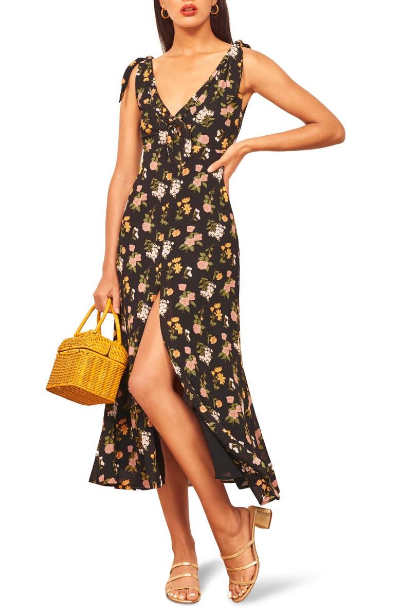 REFORMATION Harper Print Midi Dress, Main, color, SYLVIE