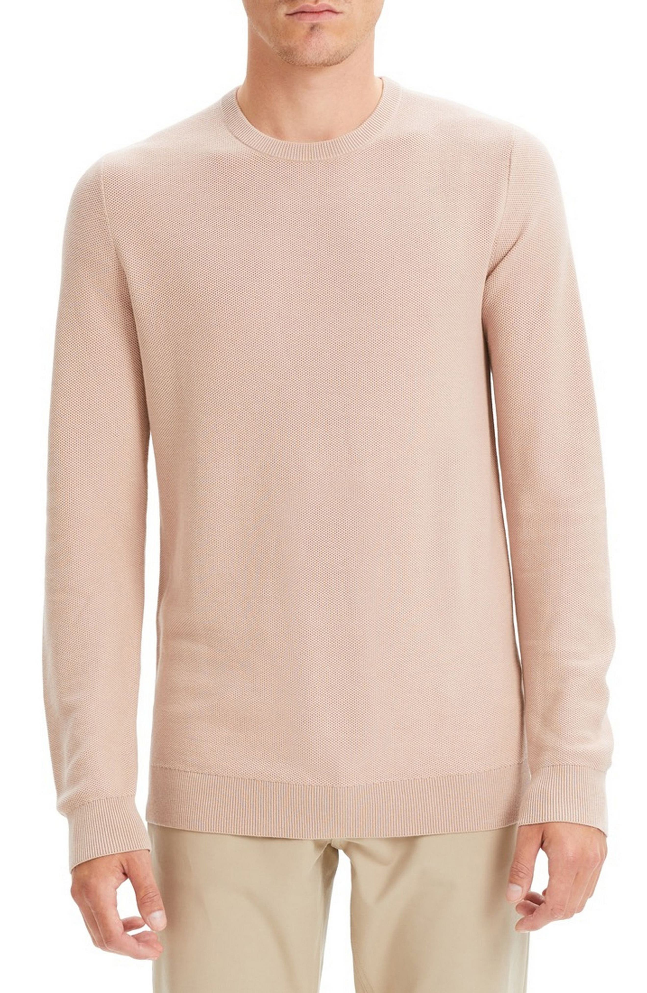 Theory Riland Breac Slim Fit Sweater, Pink