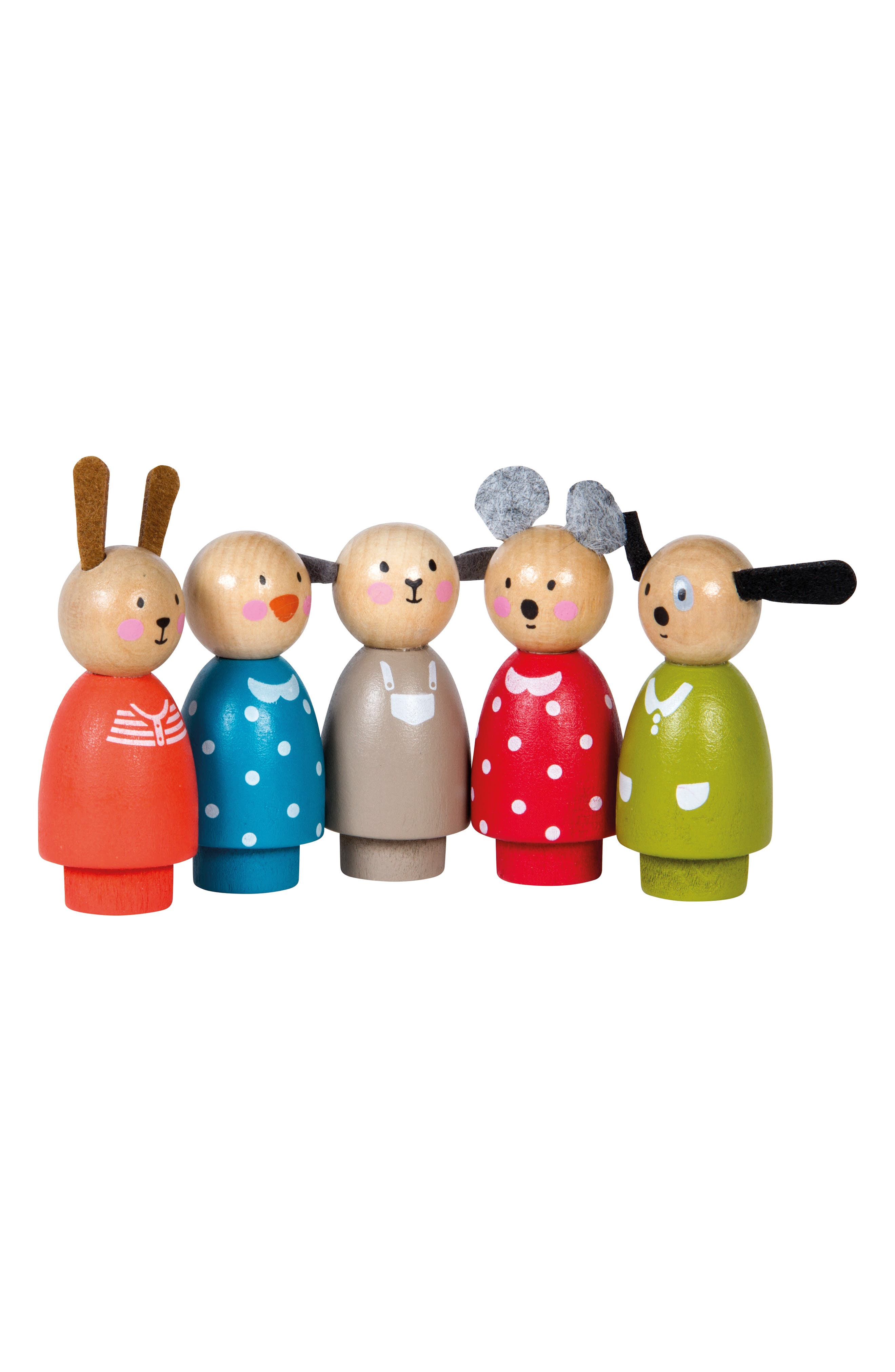 Moulin Roty La Grande Famille 5Piece Wooden Character Set