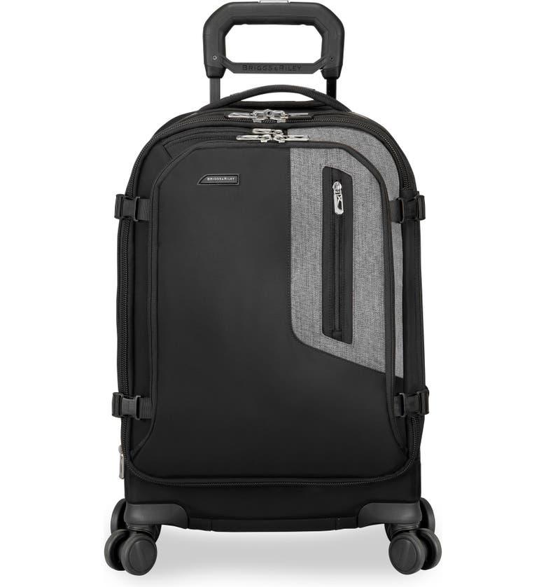 BRIGGS & RILEY BRX Explore 22-Inch Wheeled Domestic Carry-On, Main, color, BLACK