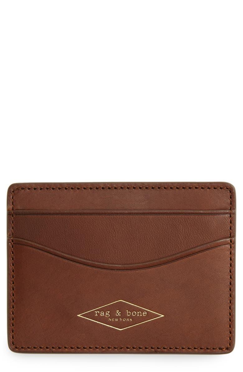 RAG & BONE Leather Card Case, Main, color, 201