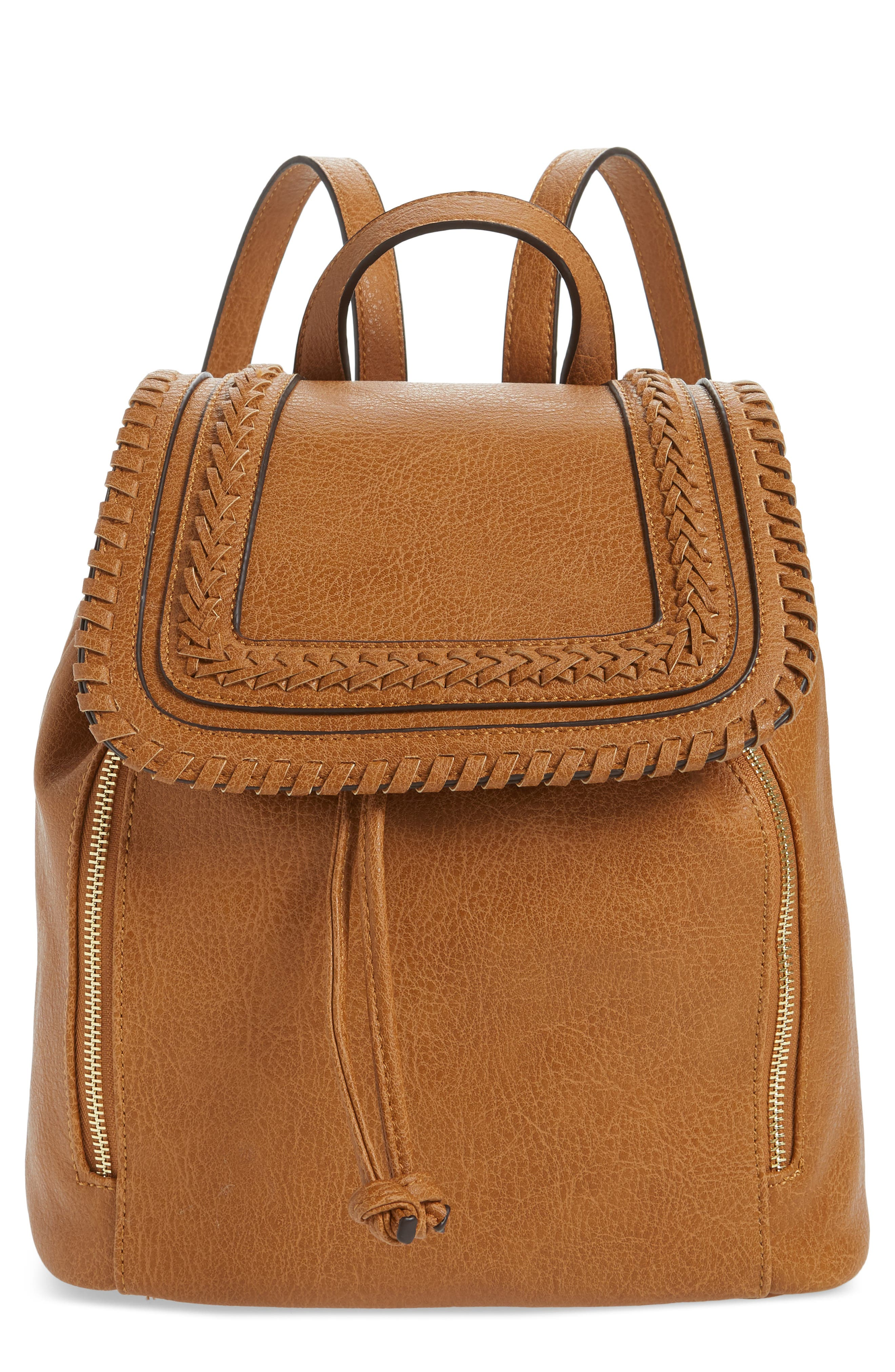 Sole Society Destin Faux Leather Backpack - Brown