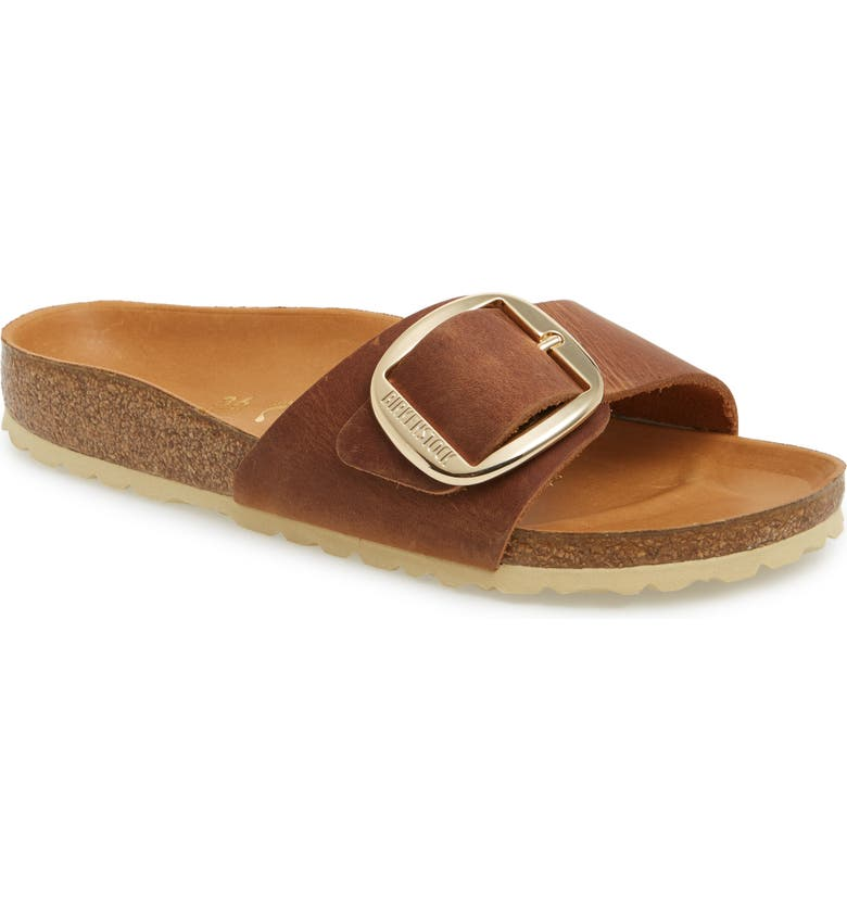 Madrid Big Buckle Slide Sandal