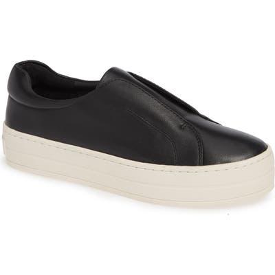 Jslides Heidi Platform Slip-On Sneaker- Black