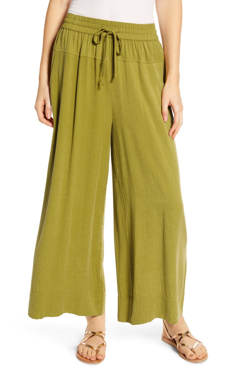 THE ODELLS Seaside Lounge Pants, Main, color, CACTUS