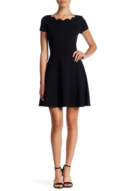 Image of Love...Ady Cap Sleeve Scallop Trim Fit & Flare Dress
