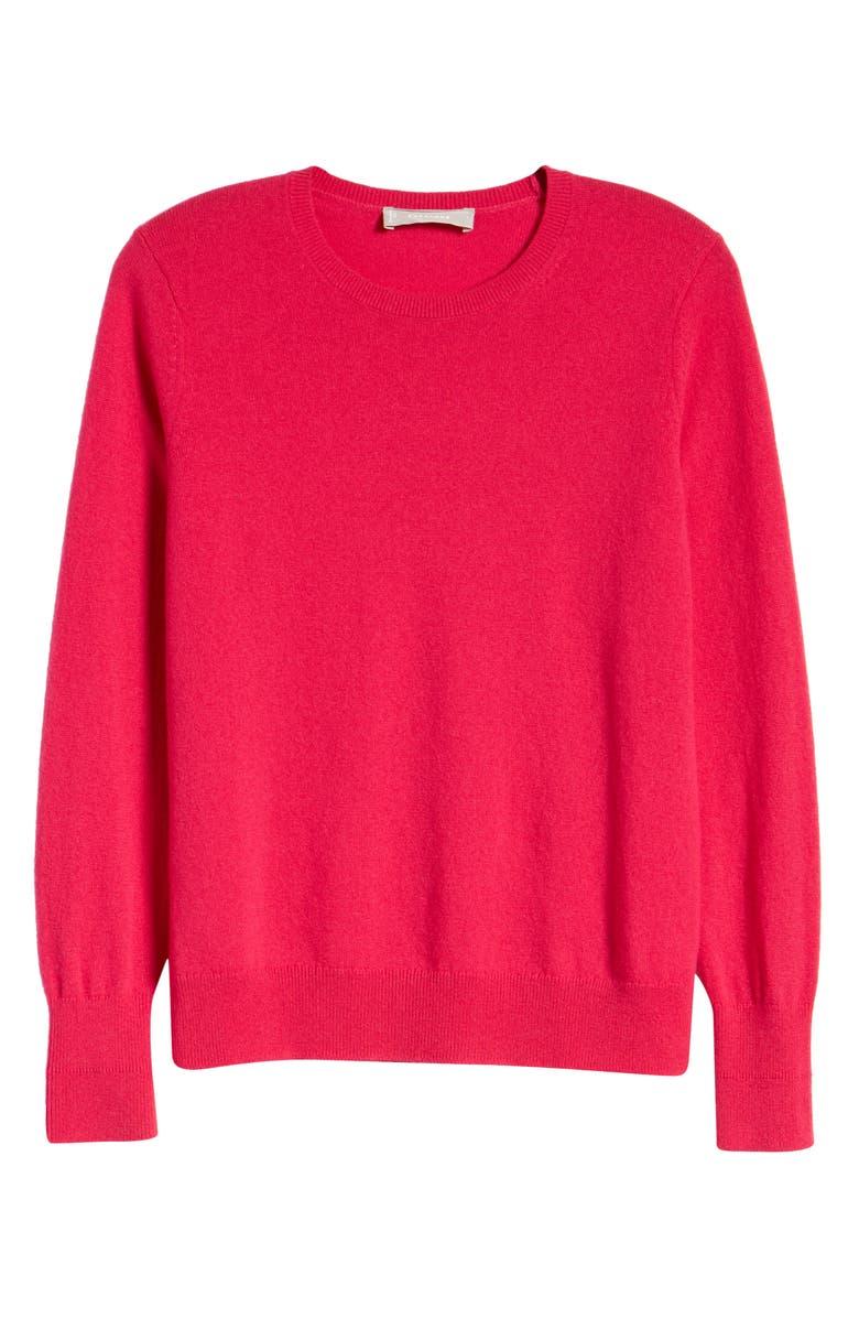 EVERLANE The Cashmere Crew Sweater, Main, color, LIPSTICK