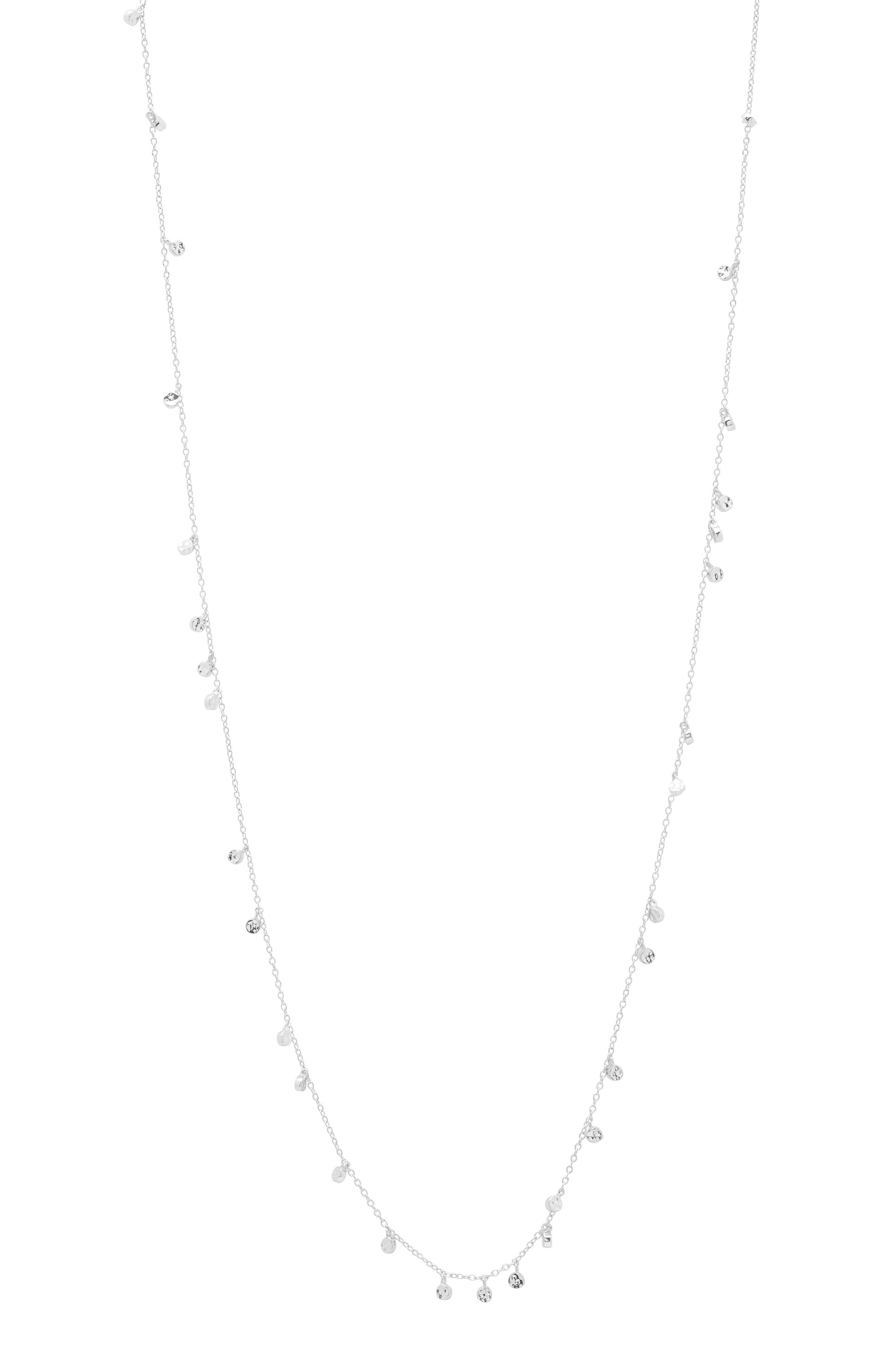 Chloe Mini Disc Long Necklace