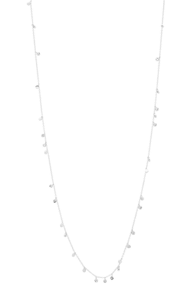 GORJANA Chloe Mini Disc Long Necklace, Main, color, SILVER