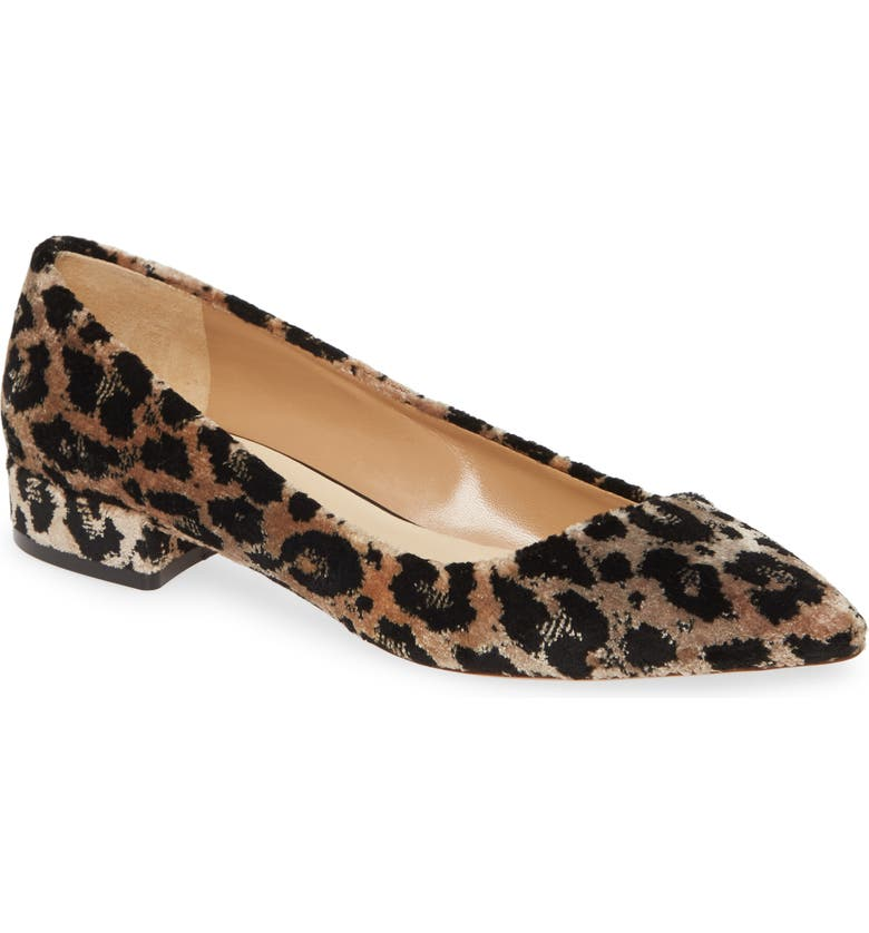 FRANCESCO RUSSO Asymmetrical Ballerina Flat, Main, color, LEOPARD