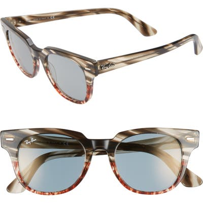 Ray-Ban Meteor 50Mm Mirrored Wayfarer Sunglasses - Gold Blue Mirror