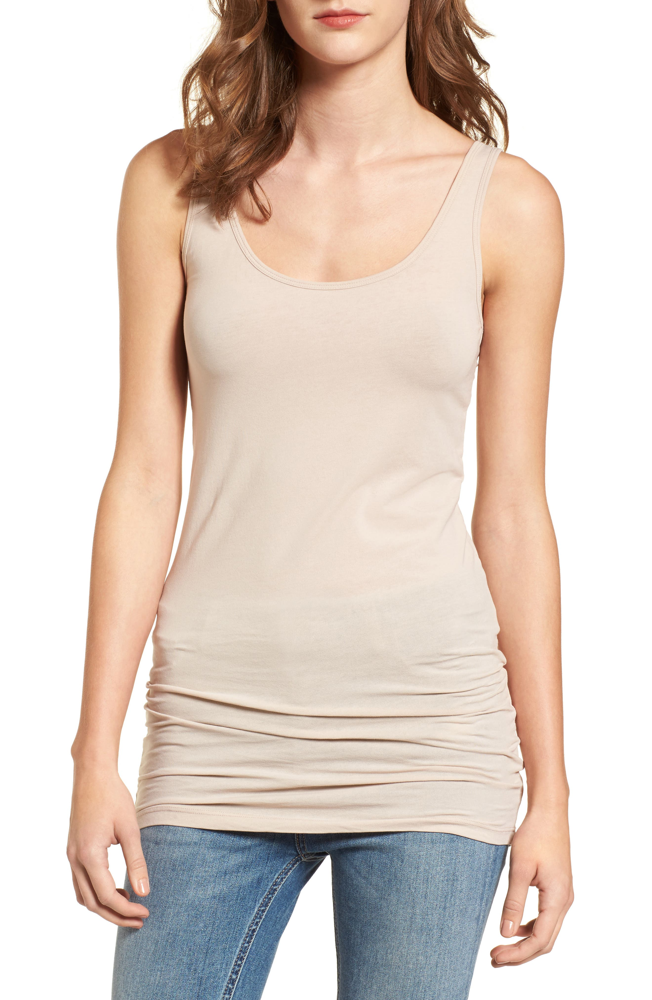 ,                             Scoop Neck Stretch Tank,                             Main thumbnail 17, color,                             255