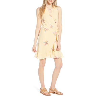 Rails Madison Ruffle Sleeveless Wrap Dress, Yellow