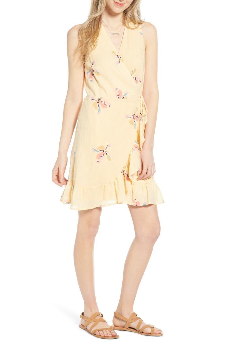 RAILS Madison Ruffle Sleeveless Wrap Dress, Main, color, EDEN