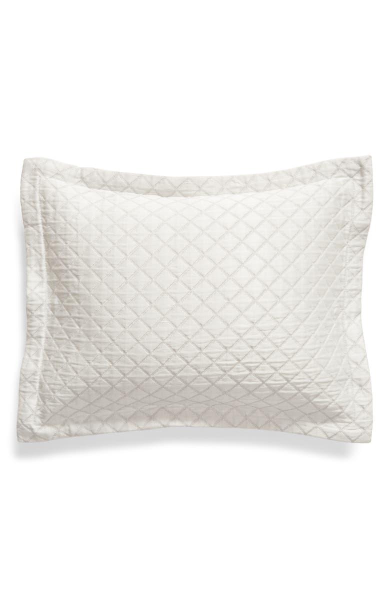MATOUK Nadia Boudoir Pillow Sham, Main, color, SILVER
