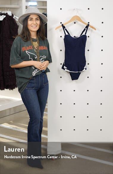 Belle Curve Peplum Underwire Swim Dress, sales video thumbnail