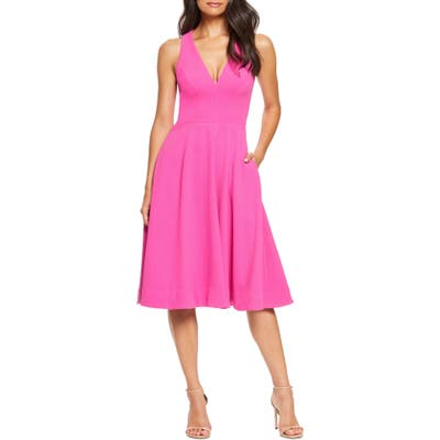 Dress The Population Catalina Fit & Flare Dress, Pink