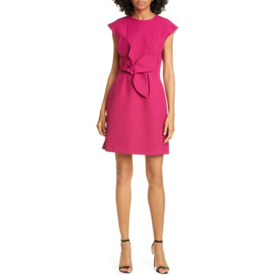 Ted Baker London Polly Structured Bow Minidress, Pink