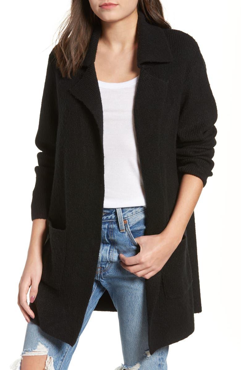 BP. Knit Sweater Coat, Main, color, 001