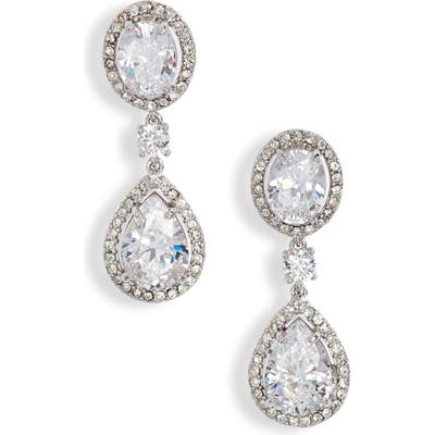 Nordstrom Pave Cubic Zirconia Teardrop Earrings