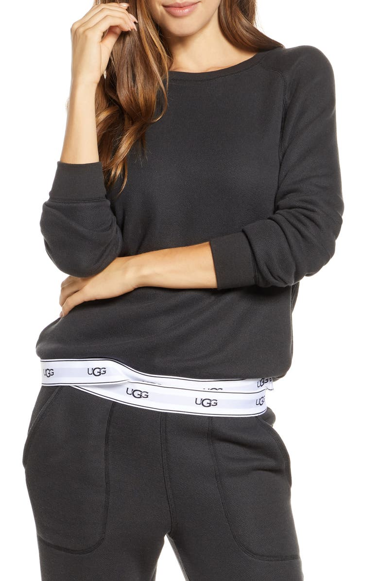 UGG<SUP>®</SUP> Nena Pullover, Main, color, BLACK