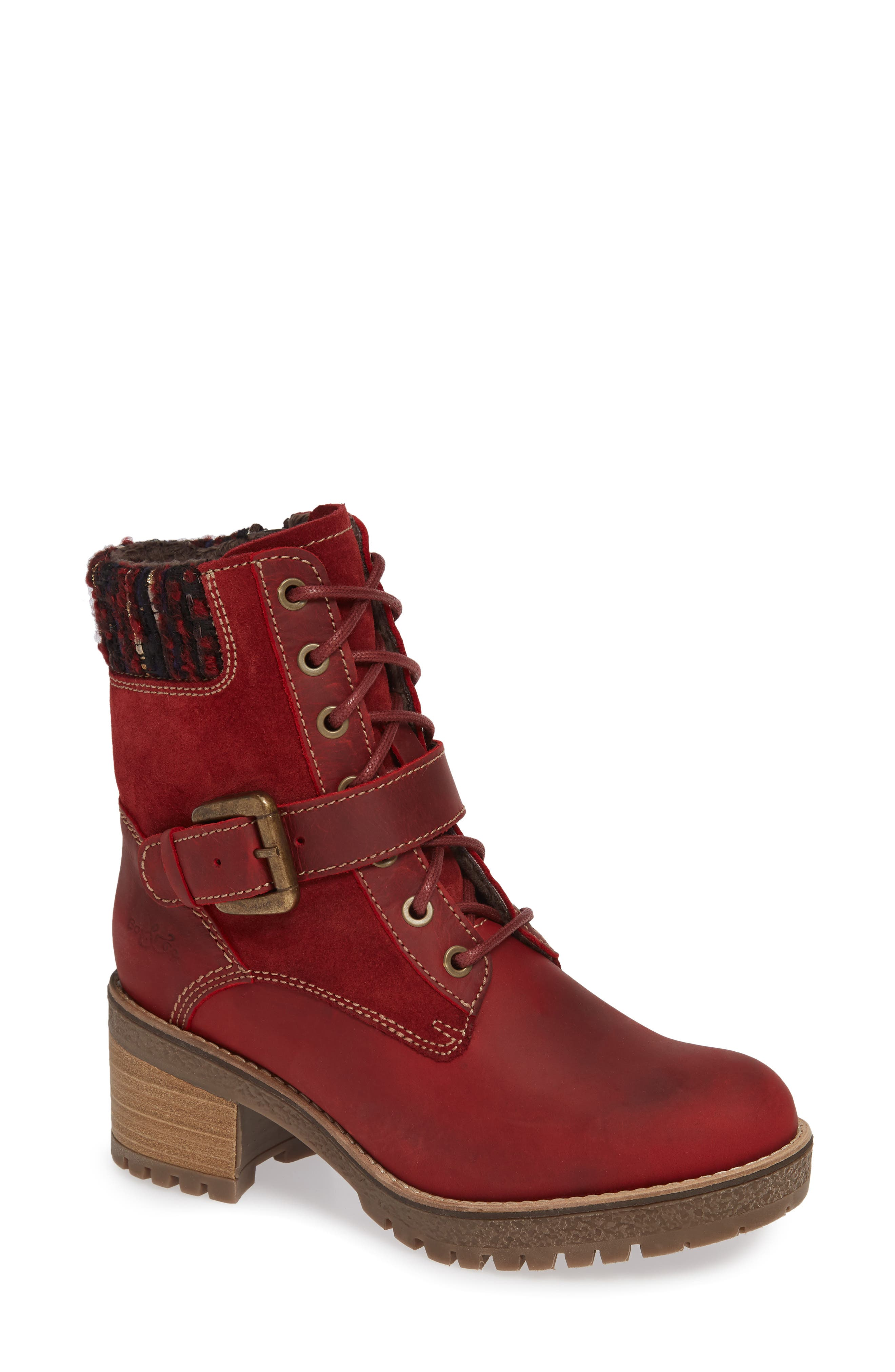 Bos. & Co. Marvel Waterproof Moto Boot, Red