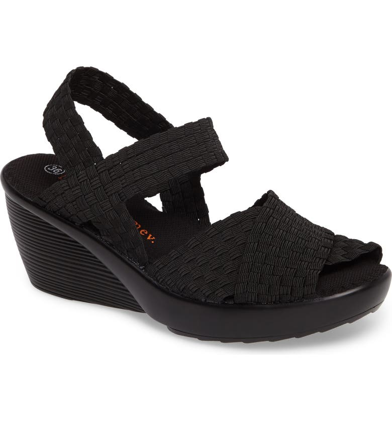 BERNIE MEV. Fresh Buttercup Sandal, Main, color, BLACK FABRIC
