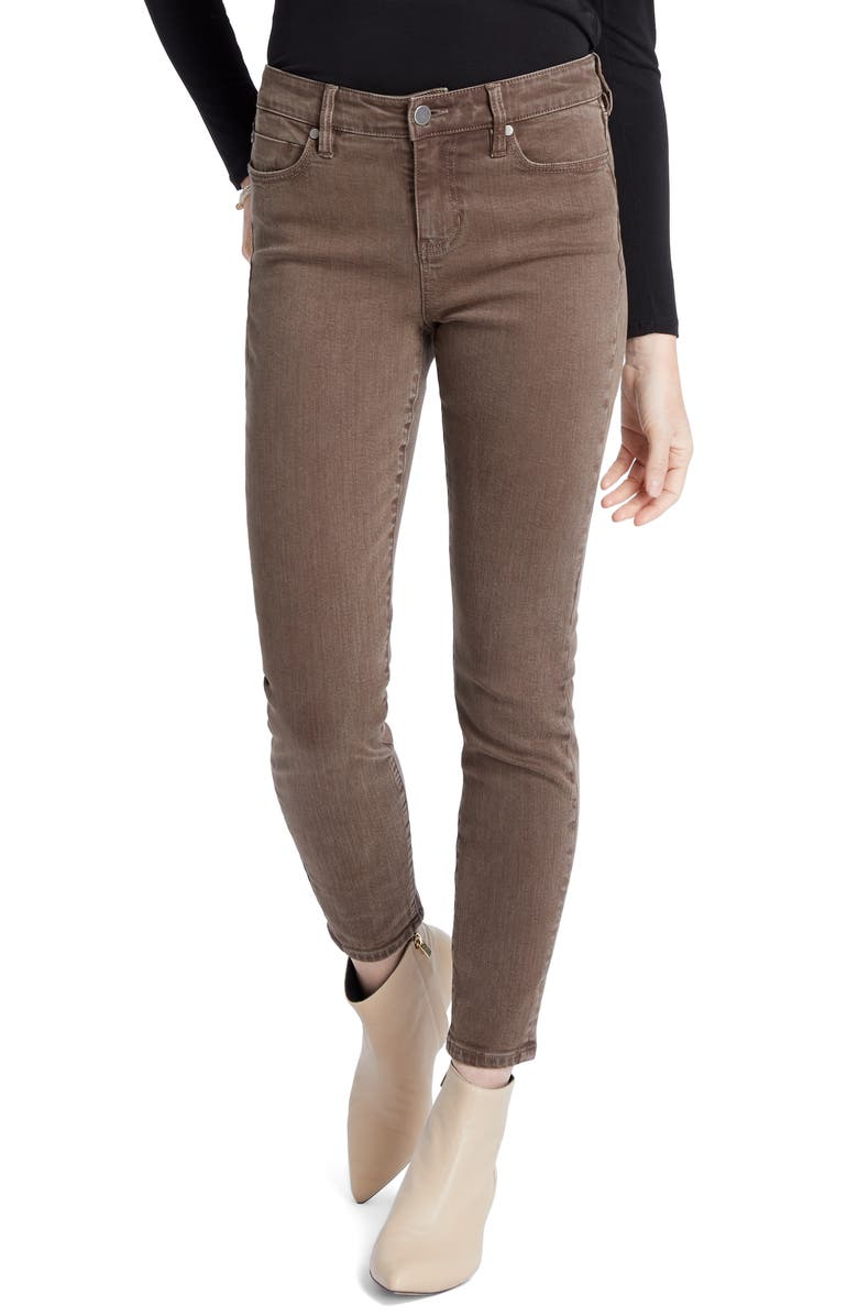 NIC+ZOE Nic Skinny Jeans, Main, color, GREYWOOD