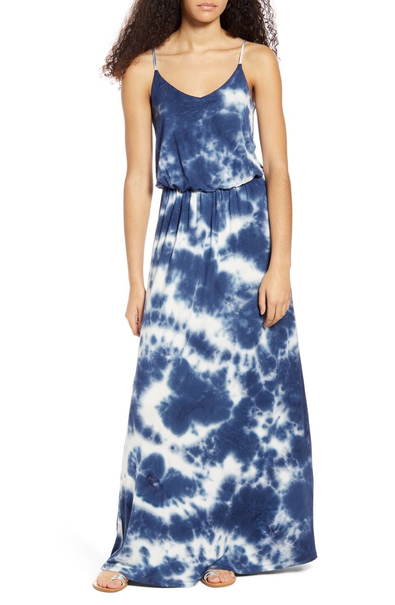 ALL IN FAVOR Knit Maxi Dress, Main, color, TIE DYE
