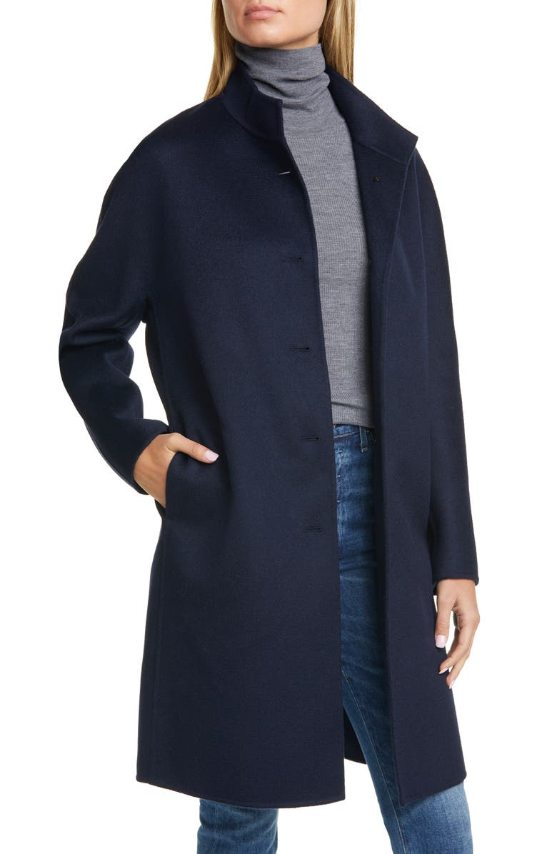 NORDSTROM SIGNATURE Wool & Cashmere Coat, Main, color, NAVY NIGHT