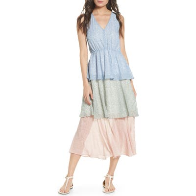Sam Edelman Tiered Midi Sundress, Blue