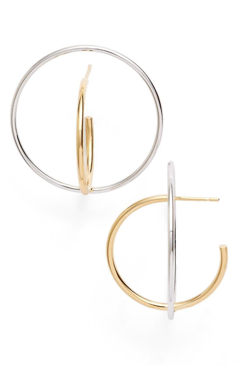 CHARLOTTE CHESNAIS 'Saturne' Earrings, Main, color, VERMEIL/ ARGENT