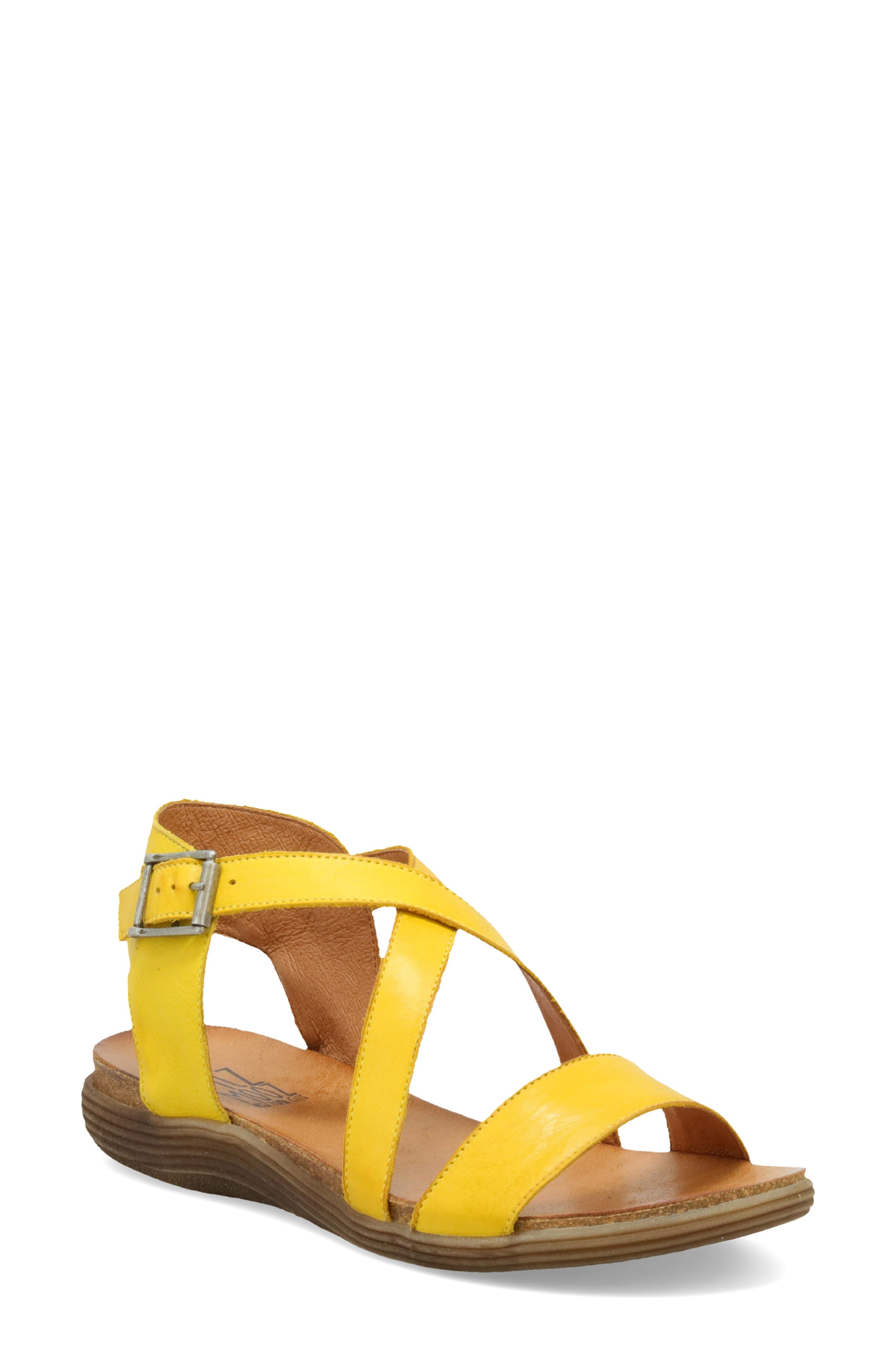 A comfy molded footbed supports your adventuring in this understated sandal with crisscrossed straps and a sophisticated palette of shades to choose from. Style Name: Miz Mooz Margarita Sandal (Women). Style Number: 5998707. Available in stores.