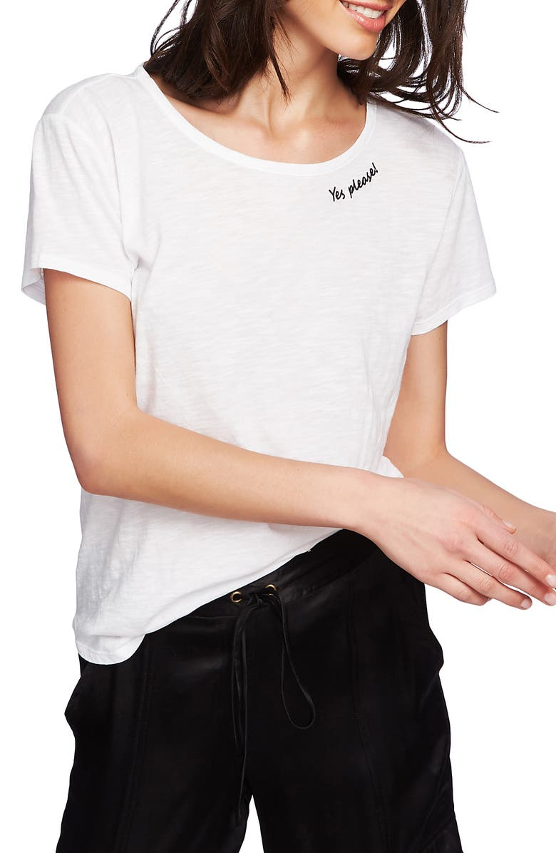 1 STATE Yes Please Embroidered Tee