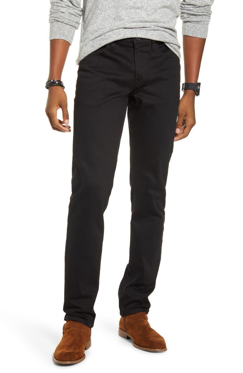 BP. X Alex Costa Stretch Skinny Jeans, Main, color, BLACK RINSE
