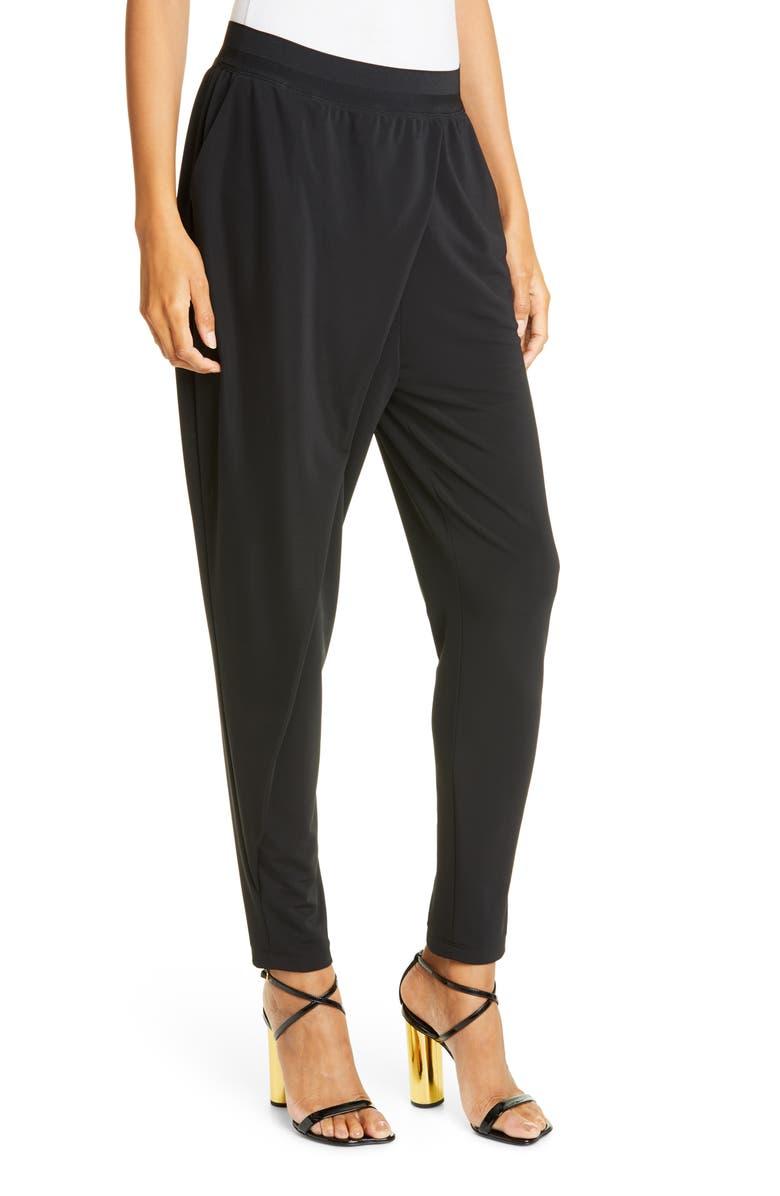 CINQ À SEPT Shana Jersey Pants, Main, color, BLACK