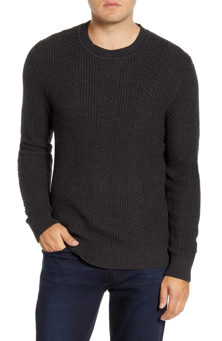 BONOBOS Slim Fit Cotton & Cashmere Crewneck Sweater, Main, color, CINDER