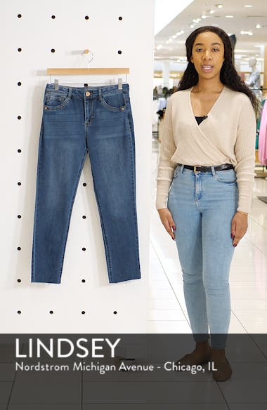 Flexellent High Waist Slim Straight Leg Jeans, sales video thumbnail