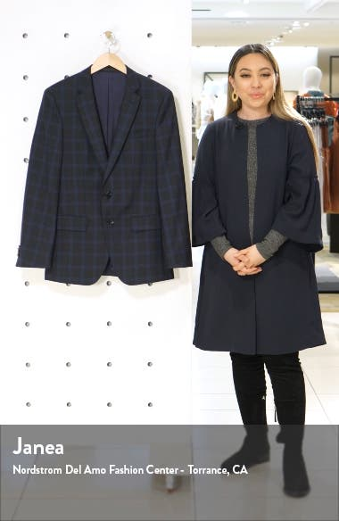 Huge Trim Fit Plaid Wool Sport Coat, sales video thumbnail