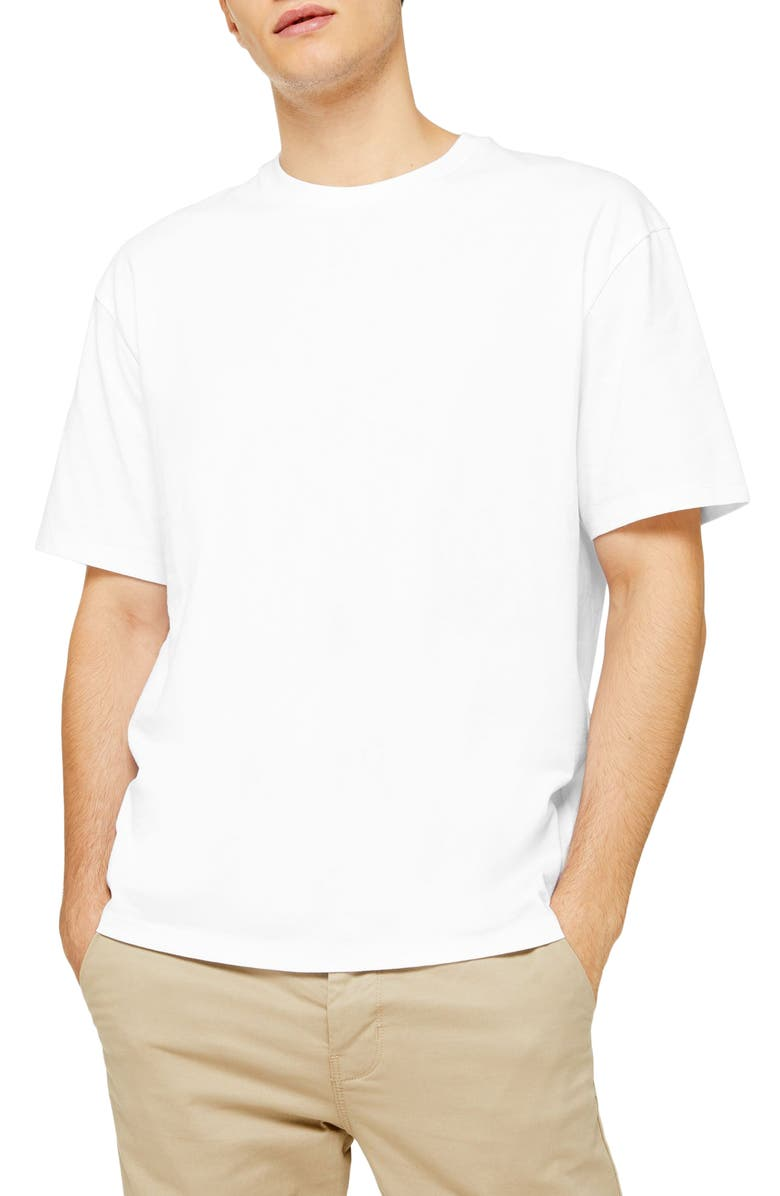 TOPMAN Classic Fit T-Shirt, Main, color, WHITE
