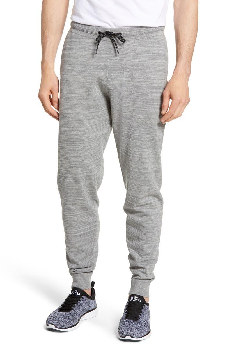 ZELLA Tech Sweater Knit Jogger Pants, Main, color, GREY ZINC MELANGE