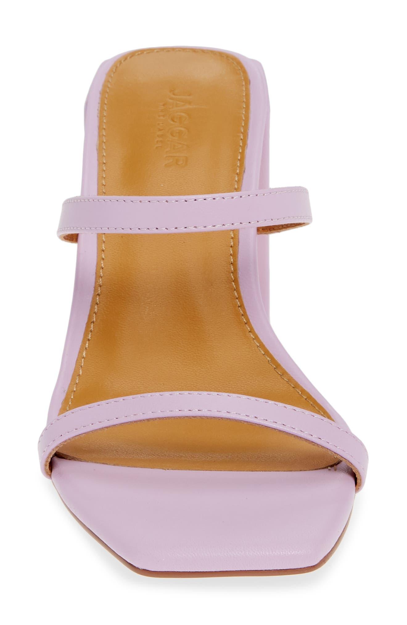 ,                             Strappy Slide Sandal,                             Alternate thumbnail 5, color,                             LILAC LEATHER