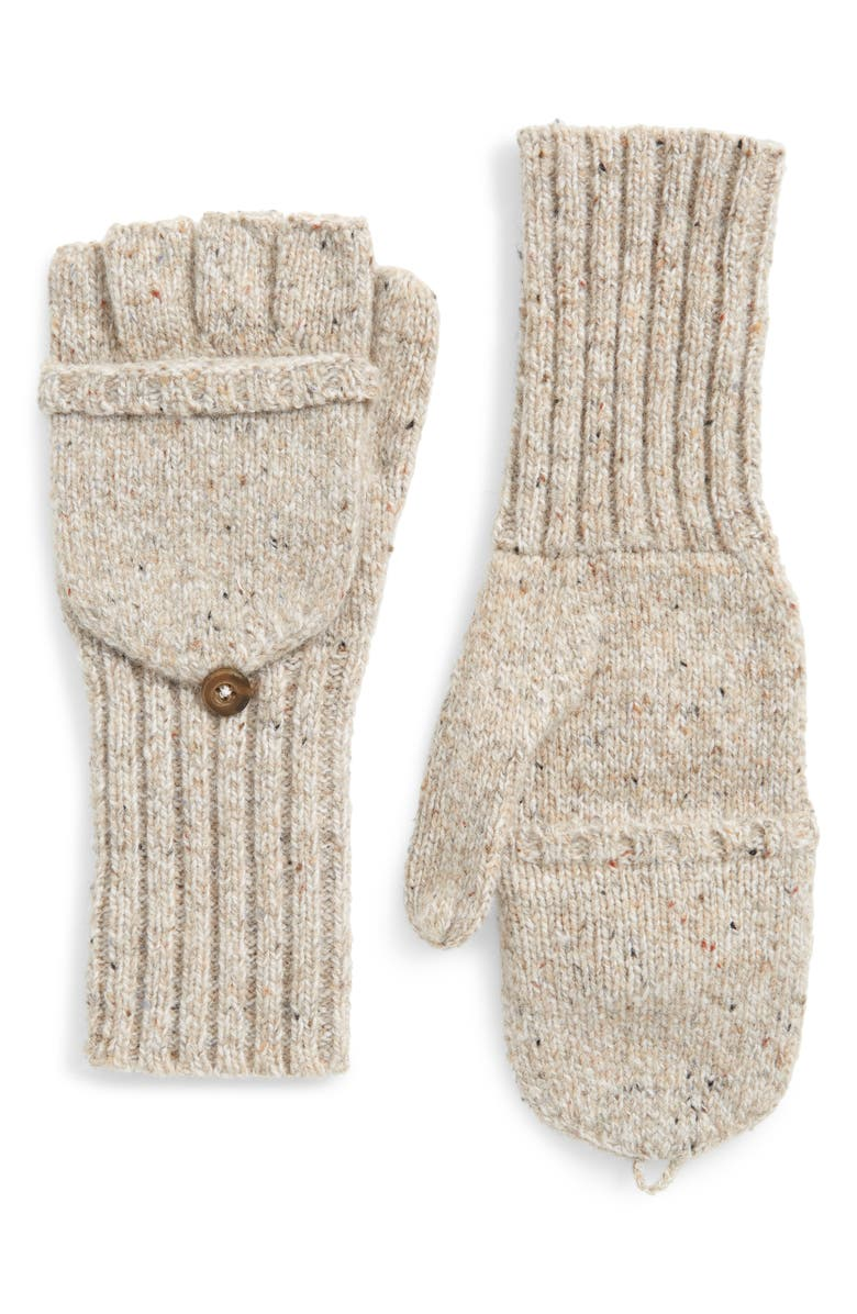 MADEWELL Convertible Ribbed Gloves, Main, color, ASHEN SAND