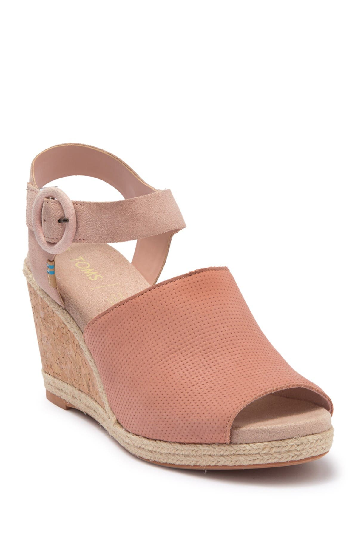 Image of TOMS Tropez Womens Pink Leather Shoes