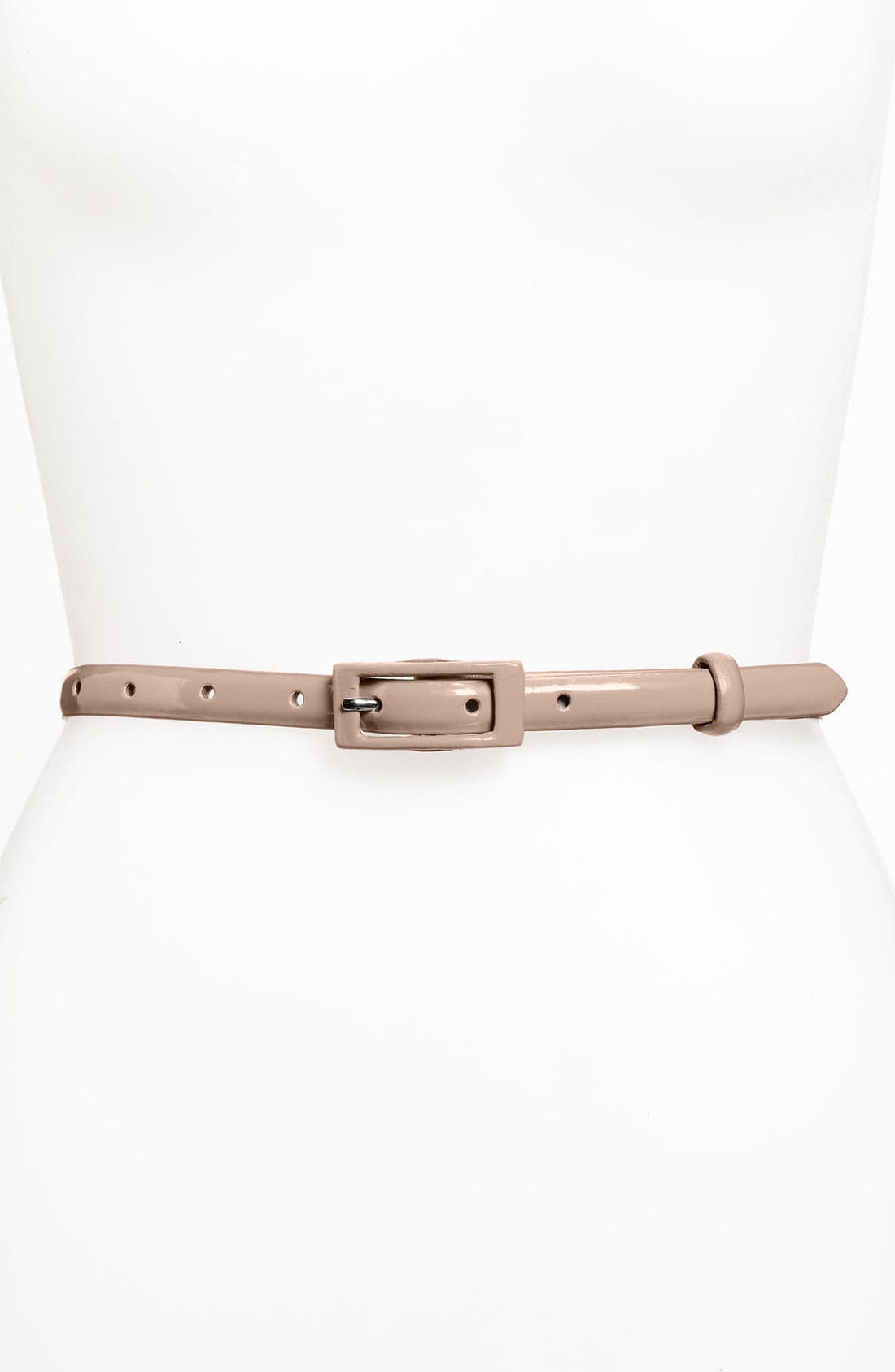 ,                             'Updated' Skinny Patent Belt,                             Main thumbnail 9, color,                             218