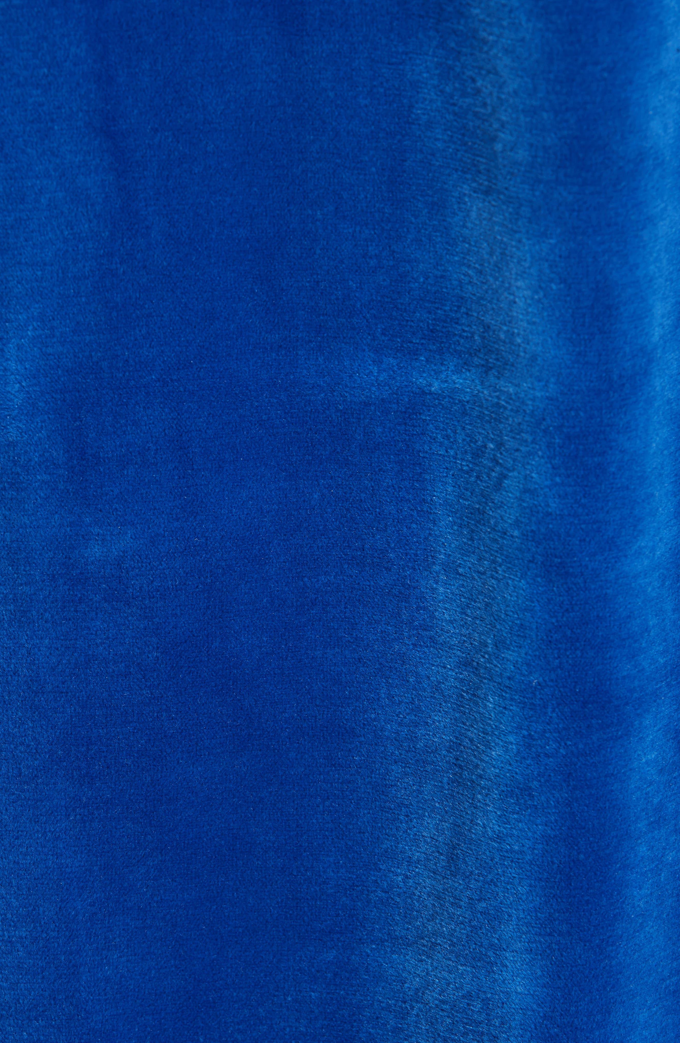 ,                             Logo Trim Velour Dress,                             Alternate thumbnail 6, color,                             PACIFIC